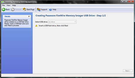 Create FireWire Memory Imager USB