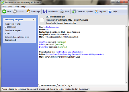 QuickBooks 2012 Decryption