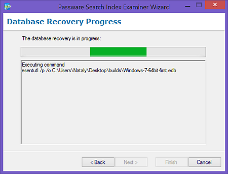 Windows Desktop Search database recovery