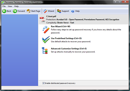 Passware Kit Forensic - Enable Distributed Password Recovery