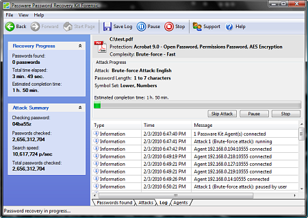 Passware Kit Forensic - Log